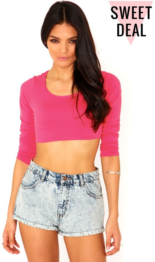 Missguided Magda Value Crop Top In Hot Pink   Where to buy & how ...