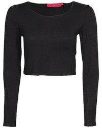 Boohoo Sasha Long Sleeve Crop Top