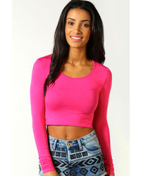Hot Pink Cropped Sweaters for Women | Women's Fashion