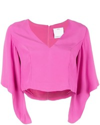 C/Meo V Neck Cropped Blouse