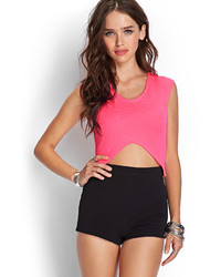 Forever 21 Quilted Pointy Crop Top