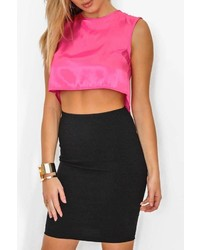 W By Wenjie Backless Crop Top