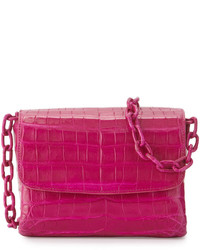 Nancy Gonzalez Crocodile Triple Gusset Mini Crossbody Bag