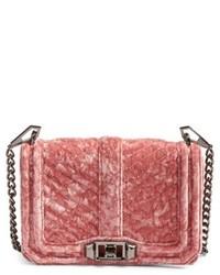 Small love velvet crossbody bag pink medium 4950297