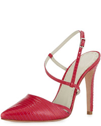 Davey lizard embossed pump hot pink medium 146121