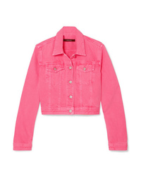 J Brand Cyra Oversized Cropped Denim Jacket