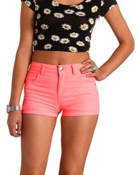 Charlotte Russe Refuge Hi Rise Shortie High Waisted Shorts | Where ...