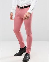 Asos Super Skinny Suit Pants In Mid Pink