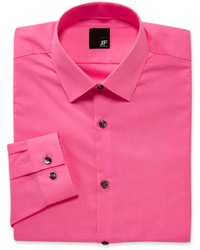 JF J.Ferrar Jf J Ferrar Easy Care Solid Dress Shirt Slim Fit