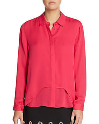 Rebecca minkoff cary silk blouse medium 454663