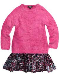 Imoga Scarlet Long Sleeve Eyelash Sweater Combo Dress Wonderland Size 8 14
