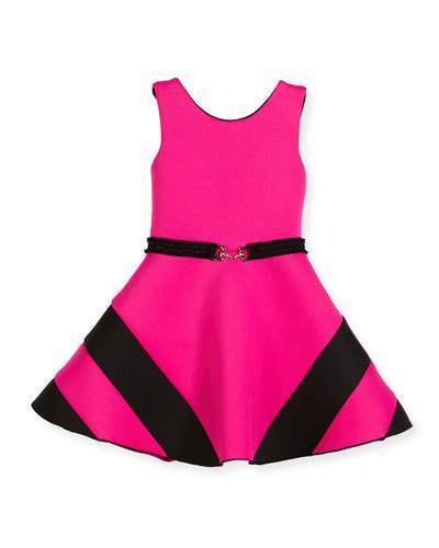33aed2b74a02 ... Neiman Marcus › Hot Pink Dresses Zoe Colorblock Belted Dress Hot Pink Size  7 16 ...