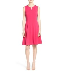 T Tahari Zoya Ponte A Line Dress