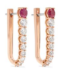Melissa Kaye Aria U 18 Karat Gold Diamond And Ruby Earrings