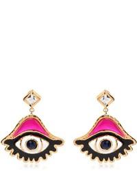 Dsquared2 Swarvoski Eye Charm Earrings