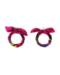 Balenciaga Printed Silk Twill Earrings