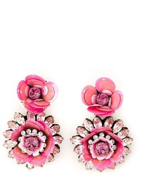 Shourouk Flower Clip On Earrings