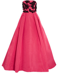 Hot Pink Embellished Evening Dress