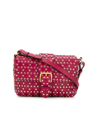 RED Valentino Red Flower Puzzle Shoulder Bag