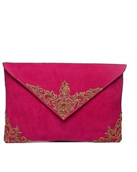 Vintage envelope clutch pink medium 151758