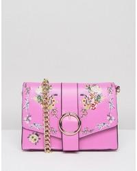 Asos Floral Embroidered Shoulder Bag