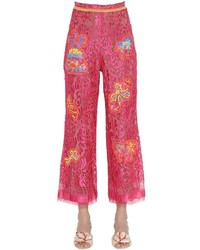 Peter Pilotto Embroidered Lace Cropped Pants