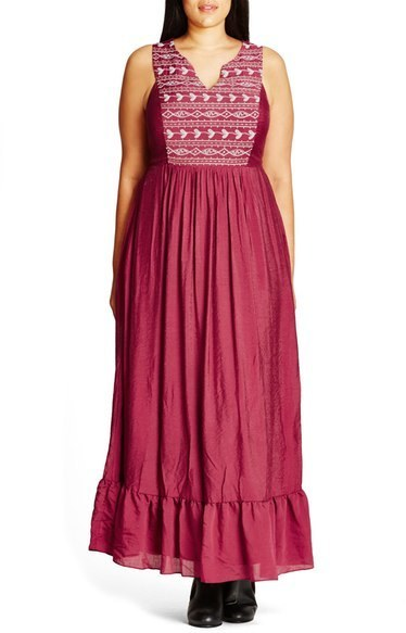 City Chic Plus Size Embroidered Love Maxi Dress Where To Buy How