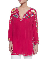 Johnny Was Vanessa Georgette Embroidered Tunic