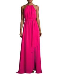 Heritage sleeveless round neck flowy gown w sash medium 4400689