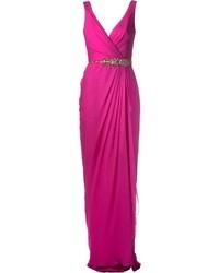Marchesa Notte Cascading Skirt Gown