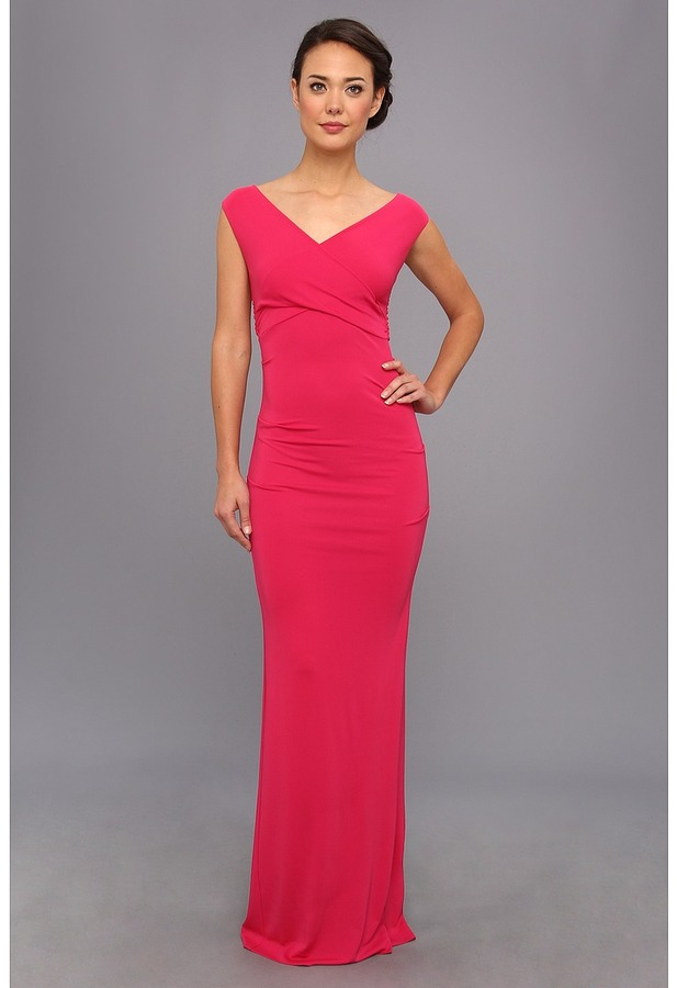 Nicole Miller Nicole Miller Tess Stretch Jersey Gown | Where to buy ...