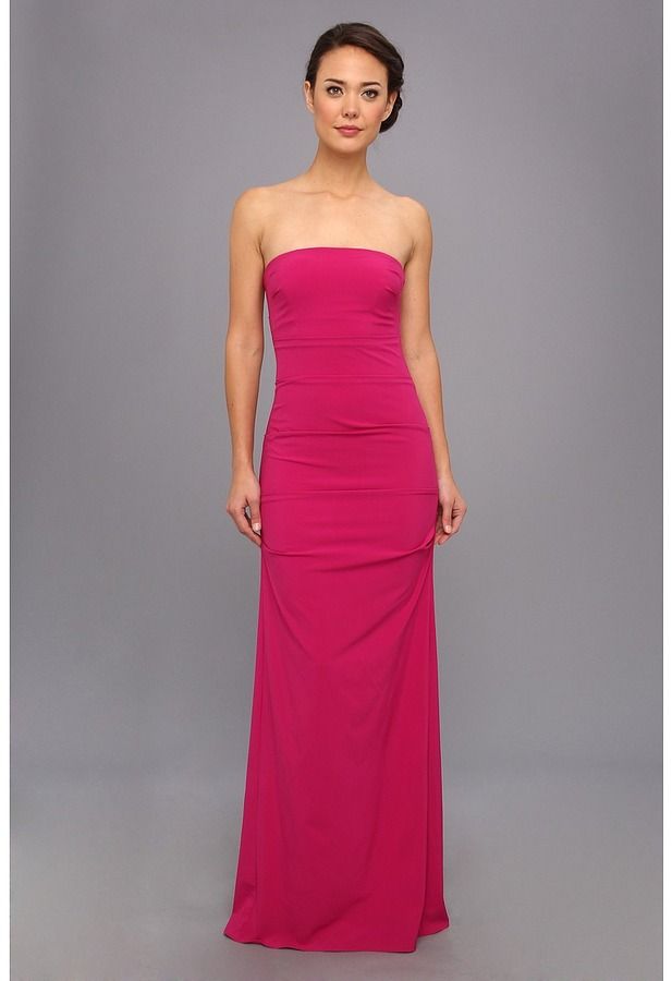 Nicole Miller Strapless Column Gown  Where to buy & how to wear