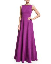 Lela Rose Sleeveless V Back Gown