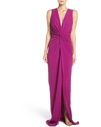 Badgley Mischka Twist Front Gown