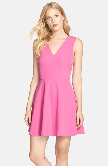 376f0c84838 ... Nordstrom Felicity Coco Back Cutout Fit Flare Dress ...