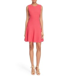 Alice + Olivia Paulie Fit Flare Knit Dress