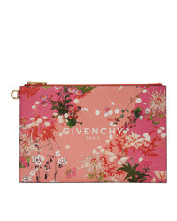 Givenchy Pink Paris Flowers Pouch