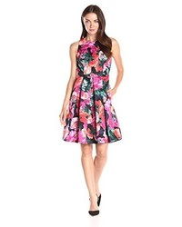 Floral sleeveless fit and flare dress medium 3662342