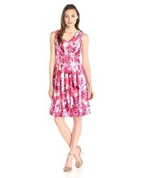 Tommy Hilfiger Pink Floral Fit And Flare Dress