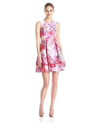 Vince Camuto Rose Floral Fit And Flare Dress