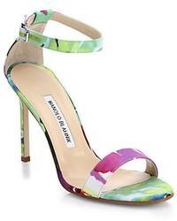 Chaos floral satin ankle strap sandals medium 308969