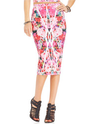 Material girl juniors mirror floral print pencil skirt medium 211811