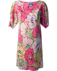 Moschino Vintage Floral Print Shift Dress