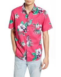 Vans Trap Floral Short Sleeve Button Up Shirt