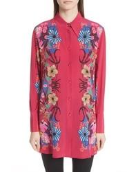 Etro Floral Print Silk Blouse