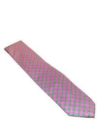 Hot Pink Floral Silk Tie