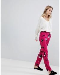 Vila Floral Printed Trousers