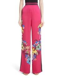 Etro Lily Print Satin Pants