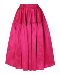 MARQUES ALMEIDA Silk Dupioni Midi Skirt