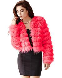 Hot Pink Fur Jacket